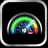 Futuristic meter battery icon