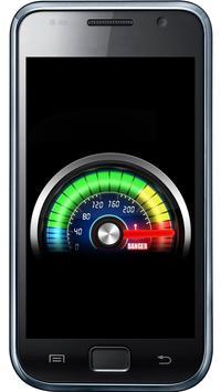 Futuristic meter battery poster