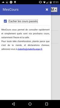 MesCours ENPC screenshot 2