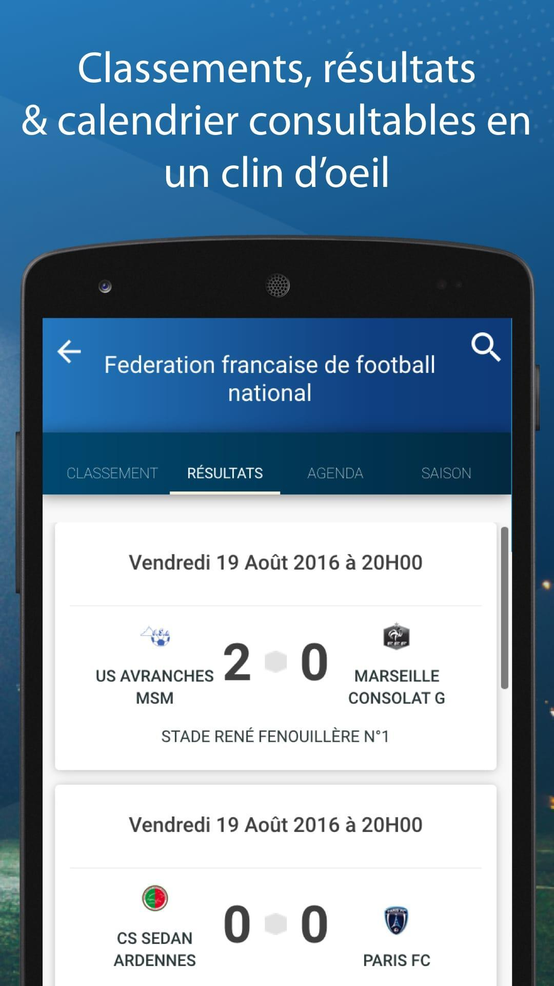National 3 Foot Calendrier.Le Foot Amateur Matches Ligues For Android Apk Download
