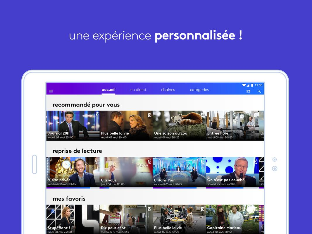 france tv direct et replay apk download free entertainment app for android. Black Bedroom Furniture Sets. Home Design Ideas
