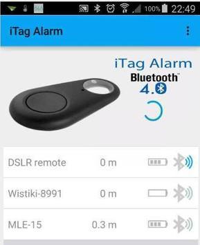 JG iTag Alarm poster