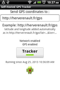 1 Schermata Self-Hosted GPS Tracker