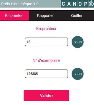 Prêts Hibouthèque apk screenshot