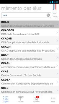 Mémento des élus apk screenshot