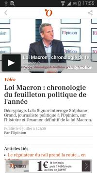 L'Opinion - Version mobile apk screenshot