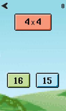 Mental math game - Math facts training poster