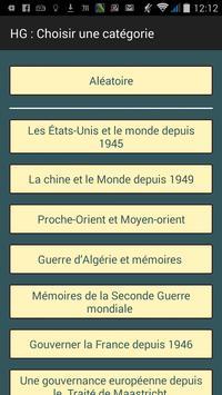 Révision Bac S Histoire QCM poster