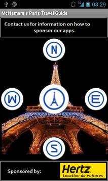 Paris Travel Guide poster