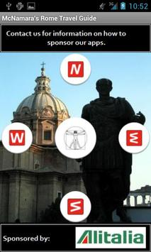 Rome Travel Guide poster