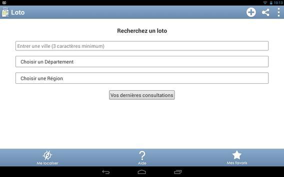 Agenda des lotos apk screenshot