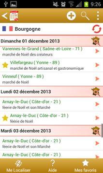 Agenda des marchés de Noël apk screenshot