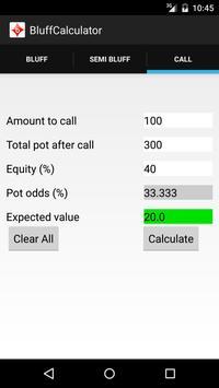 Bluff Calculator apk screenshot