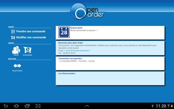 Open Order Prise de commande screenshot 1