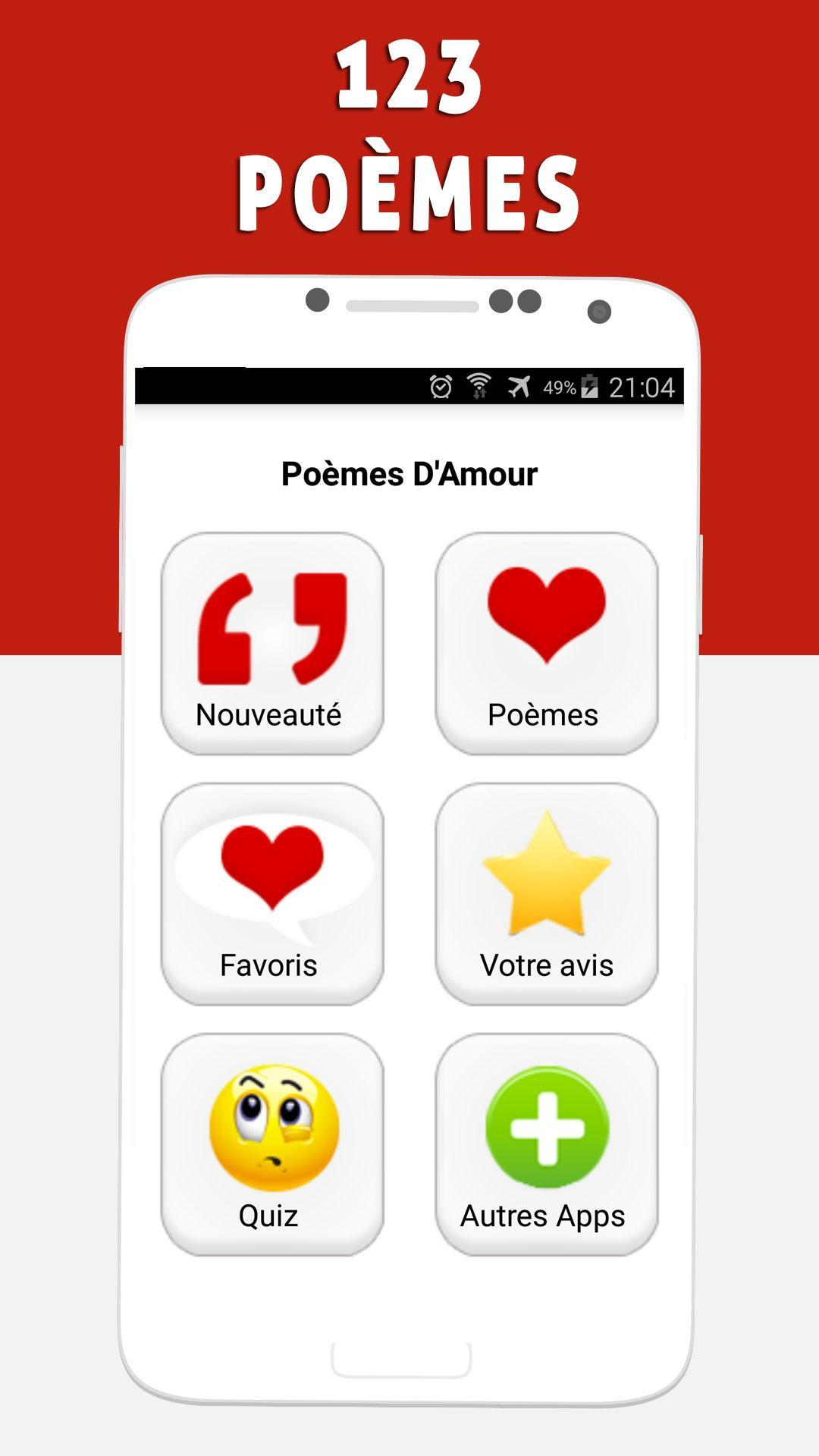 123 Poèmes Damour For Android Apk Download