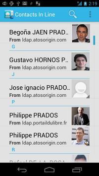 Contacts in line apk screenshot