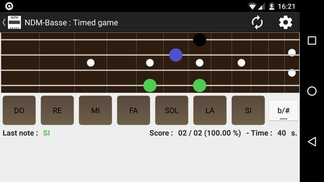 NDM - Bass (Learning to read musical notation) apk screenshot