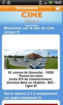 Ciné Léman et Ciné Le France apk screenshot