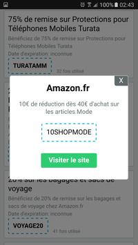 Code promo Amazon apk screenshot