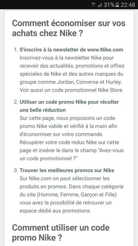 new product 70c50 8e5f5 Code promo Nike screenshot 3 . ...
