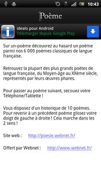 Un Poème apk screenshot