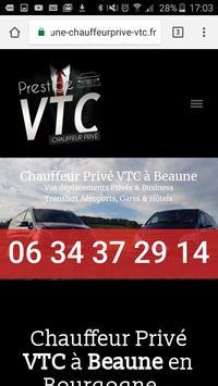 VTC Beaune, votre chauffeur privé à Beaune apk screenshot