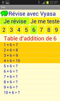 Table d'additions poster