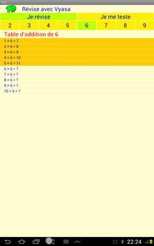 Table d'additions apk screenshot