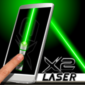 Laser Pointer X2 (PRANK AND SIMULATED APP) icon