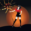 Halloween Girl Witch Monsters-icoon