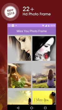 Miss You Photo Frame poster