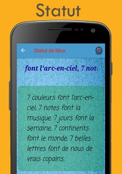Statut pour French screenshot 5