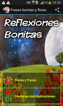 Frases bonitas y flores poster