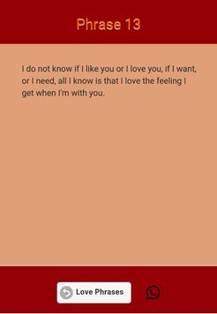 Love Phrases apk screenshot