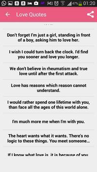 Love quotes and sayings apk screenshot