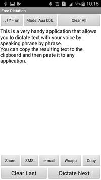 Free voice dictation poster