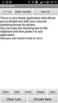 Free voice dictation apk screenshot