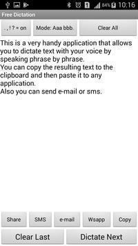Free voice dictation screenshot 1