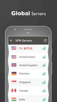 Free unblock VPN& security VPN by VPN Proxy Master स्क्रीनशॉट 2