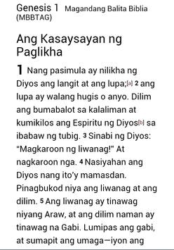 Magandang Balita Tagalog Bible poster