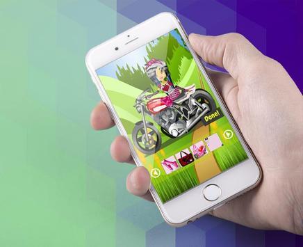 Stunt Biker Race Queen Maker screenshot 2