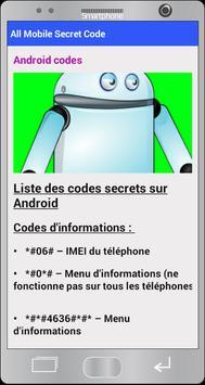 All Mobile Secret Codes pro 2018 apk screenshot