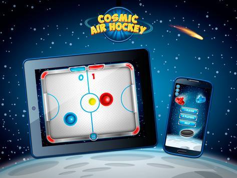 Cosmic Air Hockey screenshot 1