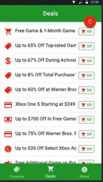 Free Xbox Live Gold & Gift Cards screenshot 1
