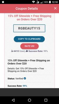 Coupons For RoseGal screenshot 1