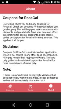 Coupons For RoseGal screenshot 4