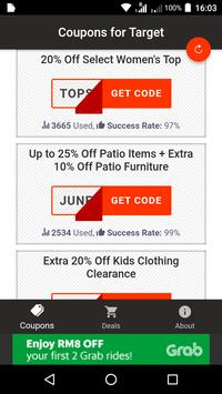 Coupons For  Target poster