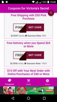 Coupons for Victoria's Secret poster