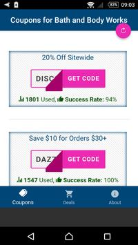 Coupons for My Bath & Body Works screenshot 1