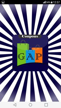 Coupons for GAP poster